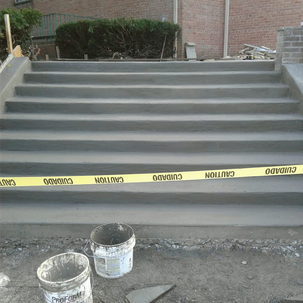 Church Stairs Poured
