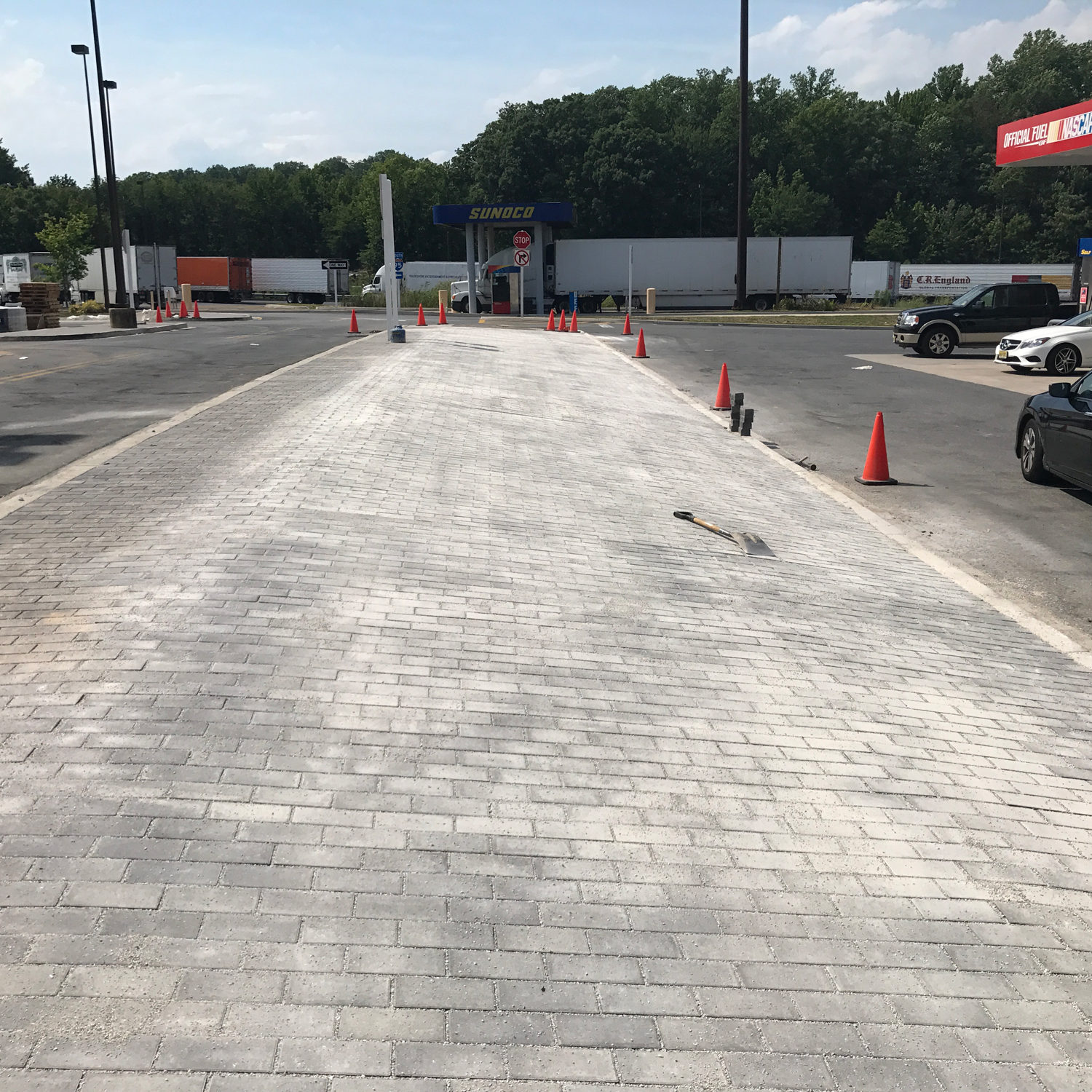Paver Project at Maryland House Rest Plaza