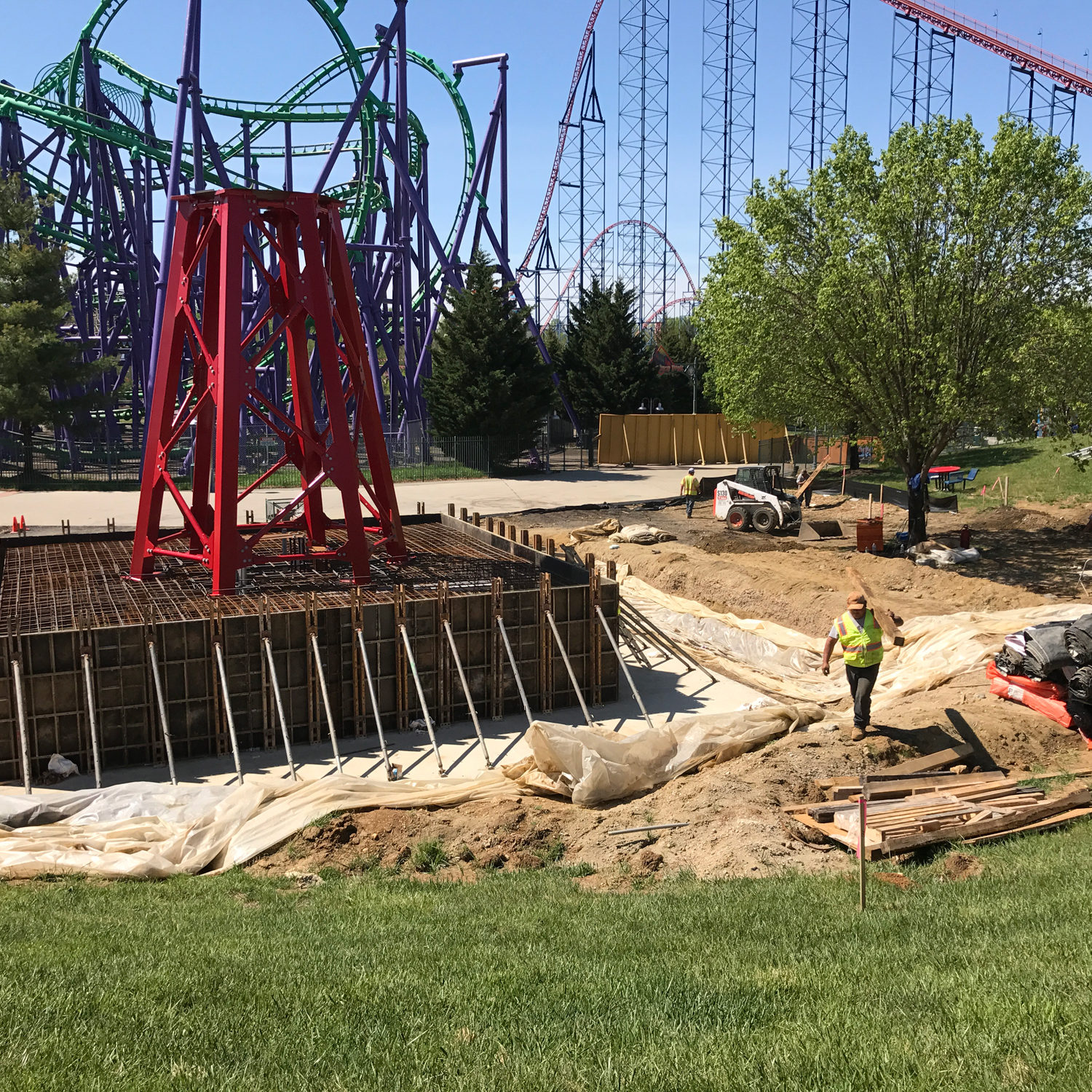 Six Flags Wonder Woman Pier Form Work