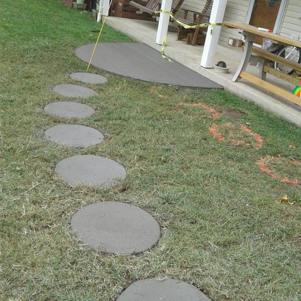 Concrete Pad and concrete stepping Stones