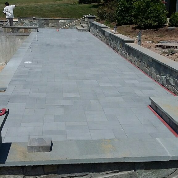 Concrete and Paver Pool Deck