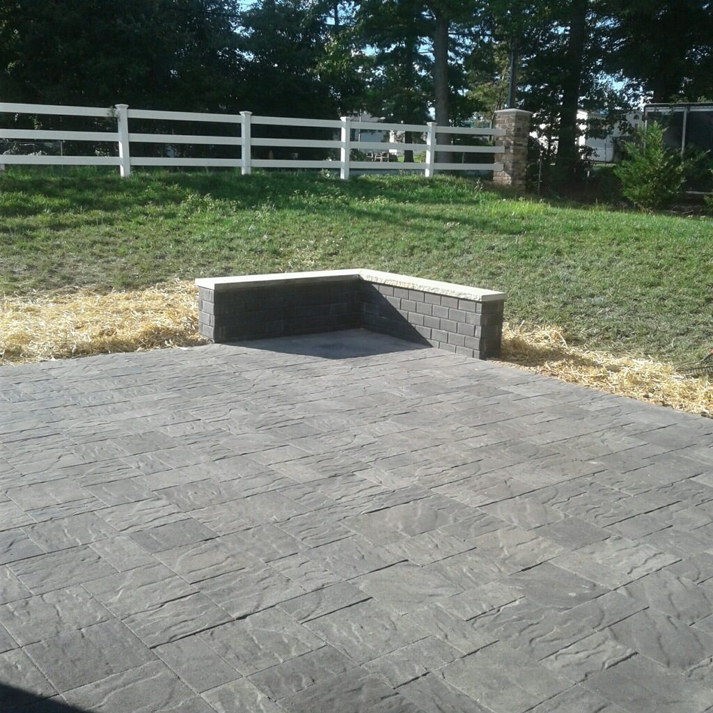Concrete and stone patio